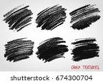dynamic vector strokes. grunge... | Shutterstock .eps vector #674300704