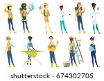 profession set for women  ... | Shutterstock .eps vector #674302705