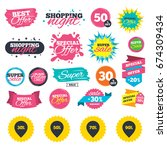 sale shopping banners. sale... | Shutterstock .eps vector #674309434