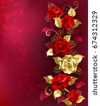 vertical composition of red and ...   Shutterstock . vector #674312329
