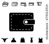 wallet vector icon in flat...