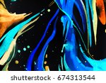 abstract watercolor texture.... | Shutterstock . vector #674313544