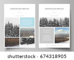 business templates for brochure ... | Shutterstock .eps vector #674318905
