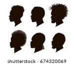 silhouettes of african american.... | Shutterstock .eps vector #674320069