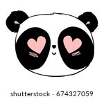 Panda Illustration Vector  Cut...