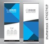 roll up business brochure flyer ... | Shutterstock .eps vector #674327419