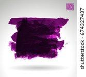 brush stroke and texture.... | Shutterstock .eps vector #674327437