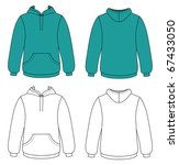 hoodie with pockets | Shutterstock .eps vector #67433050