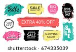 set of sale background design... | Shutterstock .eps vector #674335039