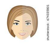 vector illustration of a woman... | Shutterstock .eps vector #674335801