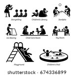 children recreational... | Shutterstock . vector #674336899