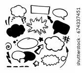 hand drawing symbols | Shutterstock .eps vector #674337451