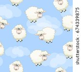 seamless pattern with cute... | Shutterstock . vector #674339875