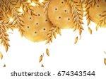 Round Cracker And Wheat...