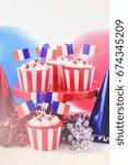happy bastille day red  white... | Shutterstock . vector #674345209