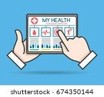 tablet telehealth concept ... | Shutterstock .eps vector #674350144