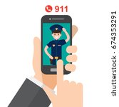call police   emergency  ... | Shutterstock .eps vector #674353291