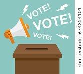 vote   election. democracy... | Shutterstock .eps vector #674354101