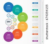 business presentation or... | Shutterstock .eps vector #674354155