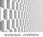 abstract white geometric...   Shutterstock . vector #674354314