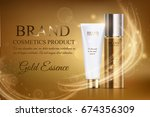 a beautiful cosmetic ads... | Shutterstock .eps vector #674356309