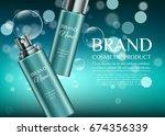 trendy brand cosmetic... | Shutterstock .eps vector #674356339