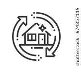 clear out service icon  part of ... | Shutterstock .eps vector #674357119