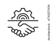 handshake icon  part of the... | Shutterstock .eps vector #674357434