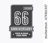 66 years anniversary design... | Shutterstock .eps vector #674361337