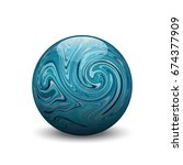 turquoise stone ball  vector... | Shutterstock .eps vector #674377909