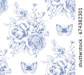 seamless beautiful pattern with ... | Shutterstock .eps vector #674382301