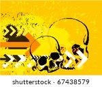 skull grunge background. raster ... | Shutterstock . vector #67438579