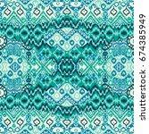 ethnic bohemian arabesque...   Shutterstock .eps vector #674385949