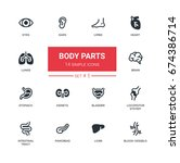 body parts   set of modern... | Shutterstock .eps vector #674386714