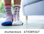 low section of girl wearing... | Shutterstock . vector #674389267