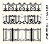 fences | Shutterstock .eps vector #674395555