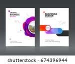 abstract business brochure... | Shutterstock .eps vector #674396944