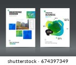 brochure cover design layout... | Shutterstock .eps vector #674397349
