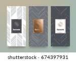 vector set packaging templates... | Shutterstock .eps vector #674397931