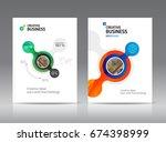 abstract business brochure...   Shutterstock .eps vector #674398999