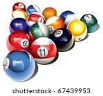 Glossy Billiard Balls Set ...