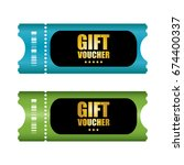 special voucher design  gift...   Shutterstock . vector #674400337