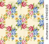 seamless floral pattern with... | Shutterstock .eps vector #674401855