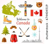 travel banner with famous... | Shutterstock .eps vector #674404519