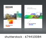 brochure cover design layout... | Shutterstock .eps vector #674410084