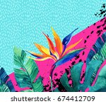 Abstract Tropical Summer Desig...