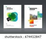 multipurpose business brochure...   Shutterstock .eps vector #674412847