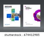 abstract business brochure...   Shutterstock .eps vector #674412985