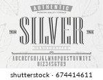 font.alphabet.script.typeface...   Shutterstock .eps vector #674414611