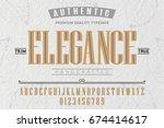 font.alphabet.script.typeface... | Shutterstock .eps vector #674414617
